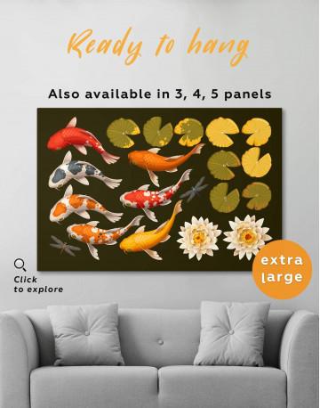 Koi Fish Canvas Wall Art