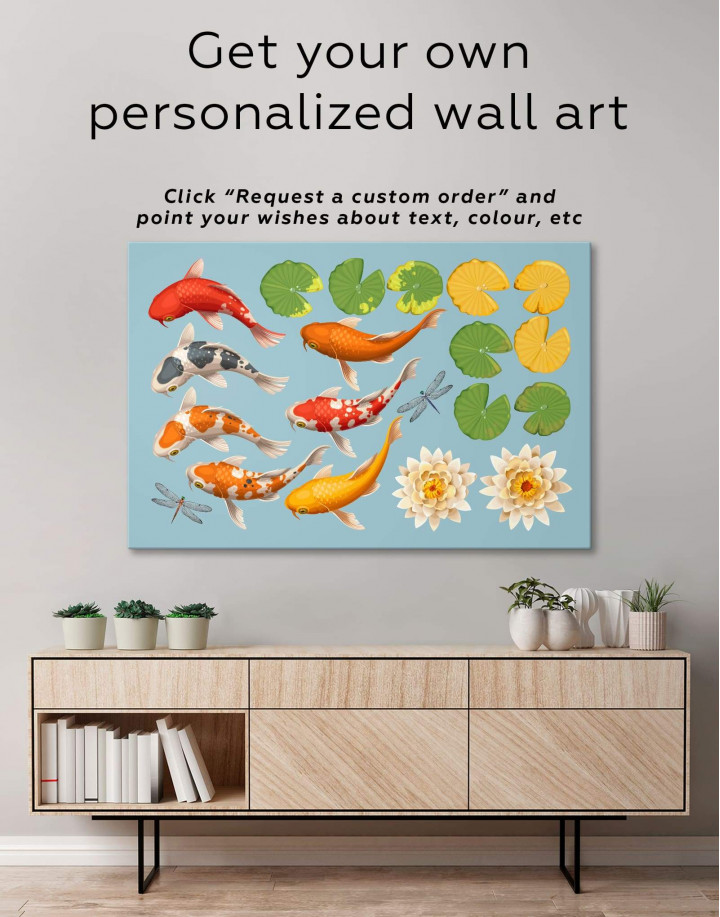 Koi Fish Canvas Wall Art - Image 1
