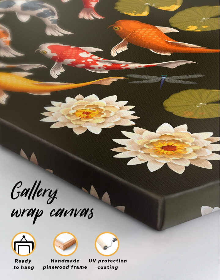 Koi Fish Canvas Wall Art - Image 6