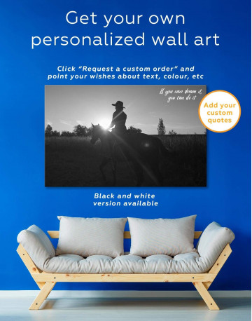 Horse Riding Canvas Wall Art - image 1