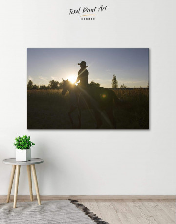 Horse Riding Canvas Wall Art