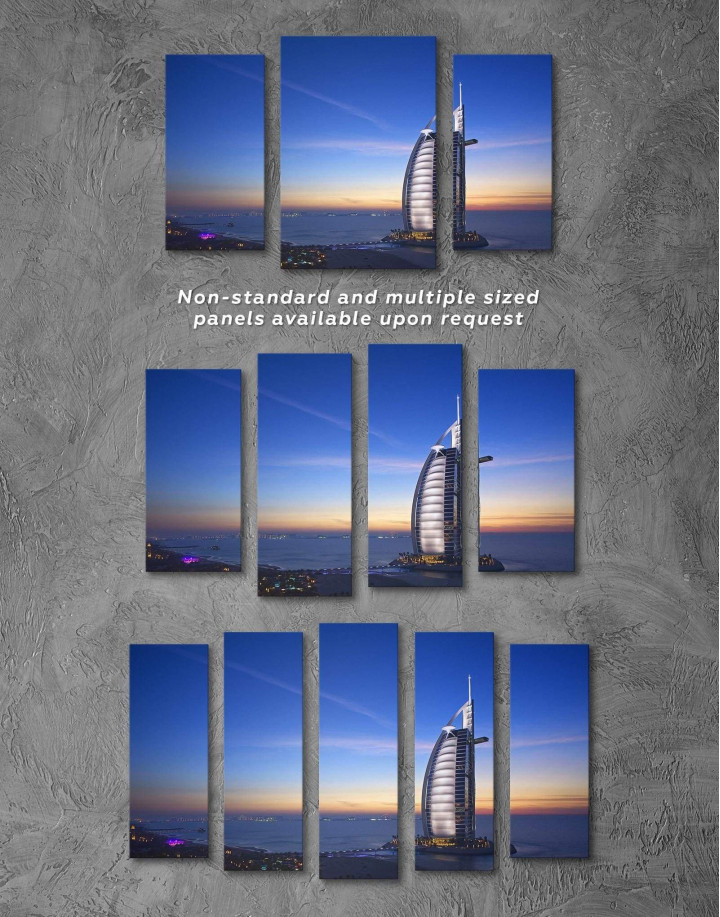 Burj Al Arab Jumeirah Canvas Wall Art - Image 2