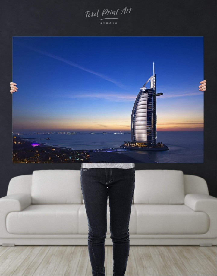 Burj Al Arab Jumeirah Canvas Wall Art - Image 4