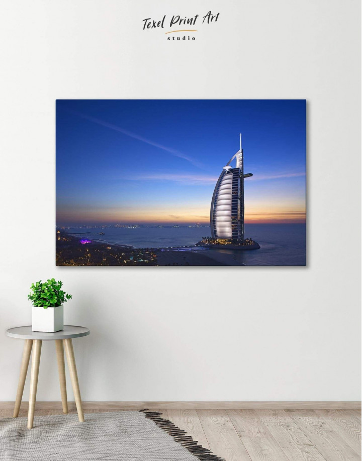 Burj Al Arab Jumeirah Canvas Wall Art - Image 0