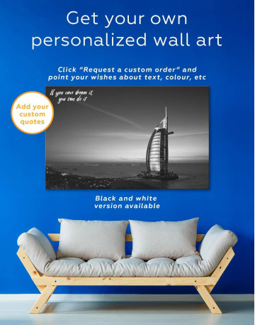 Burj Al Arab Jumeirah Canvas Wall Art - image 1