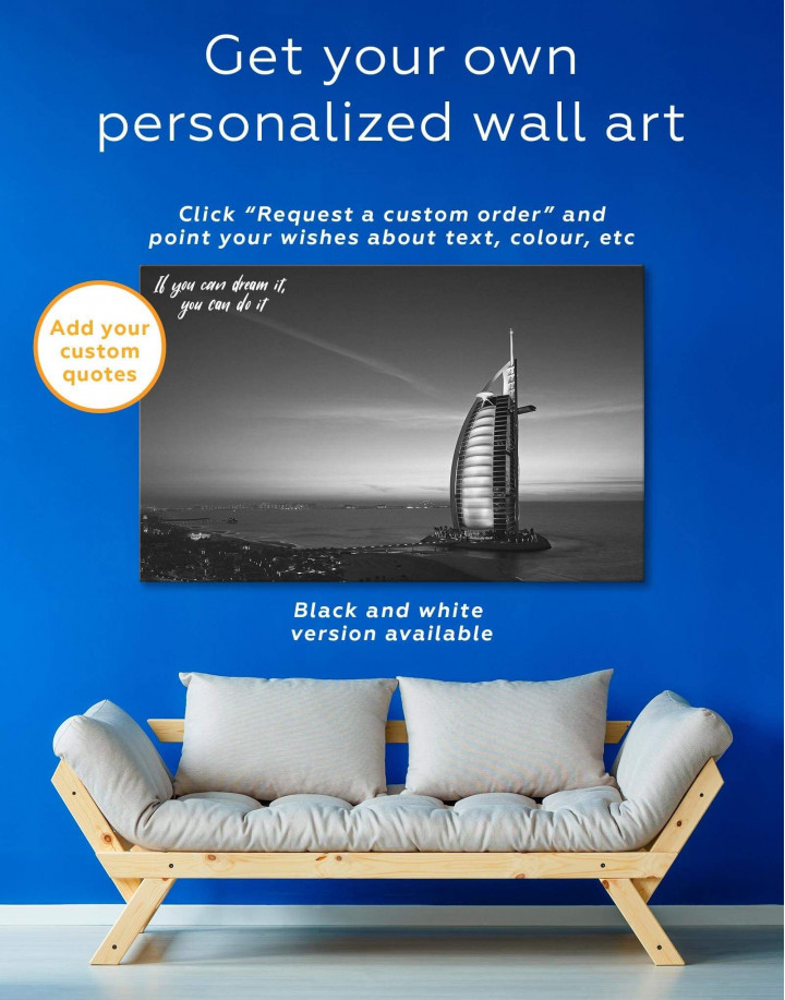 Burj Al Arab Jumeirah Canvas Wall Art - Image 1