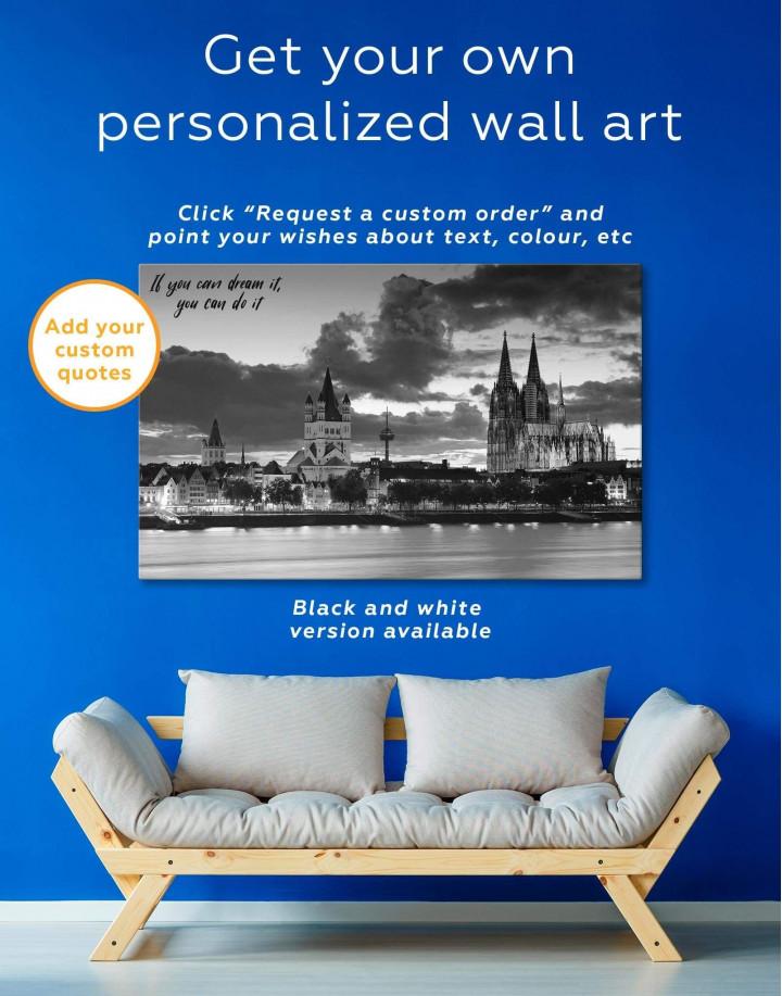 Germany Cityscape Canvas Wall Art - Image 1