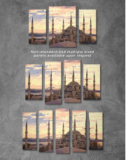 Sultan Ahmed Mosque Canvas Wall Art - Image 2