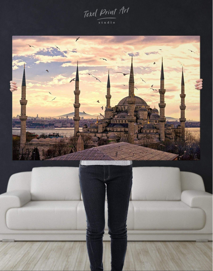 Sultan Ahmed Mosque Canvas Wall Art - Image 4