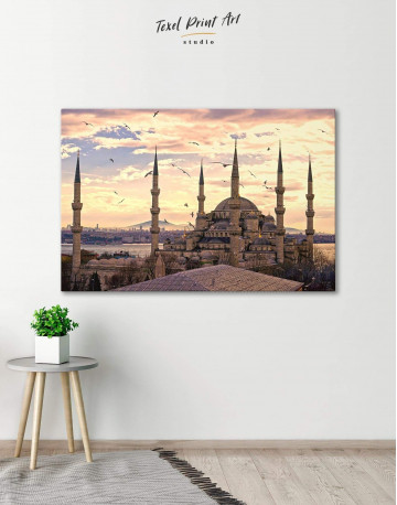 Sultan Ahmed Mosque Canvas Wall Art