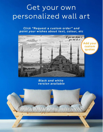 Sultan Ahmed Mosque Canvas Wall Art - image 1
