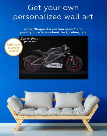 Black Widow's Motorcycle Canvas Wall Art - image 1