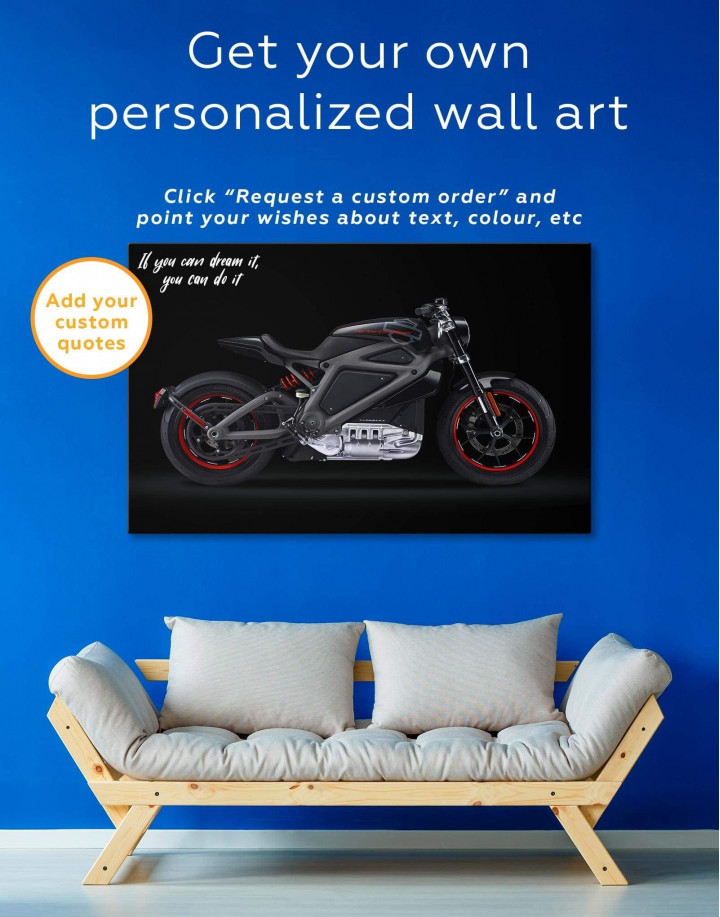 Black Widow's Motorcycle Canvas Wall Art - Image 1