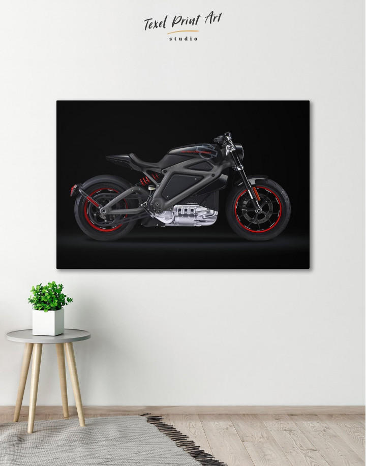 Black Widow's Motorcycle Canvas Wall Art - Image 0