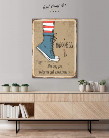 Happiness is Canvas Wall Art