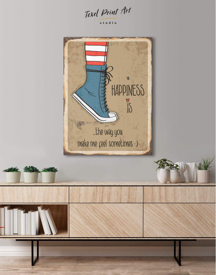 Happiness is Canvas Wall Art - Image 0