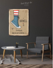 Happiness is Canvas Wall Art - Image 1