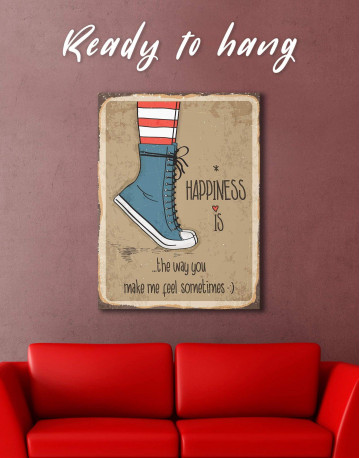 Happiness is Canvas Wall Art - image 2