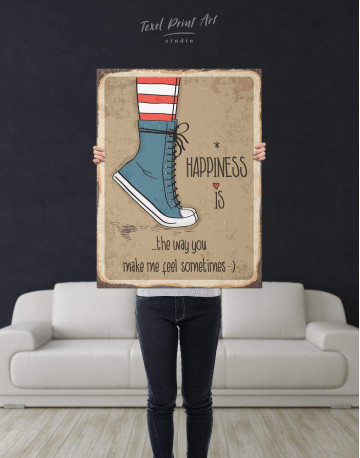 Happiness is Canvas Wall Art - image 3