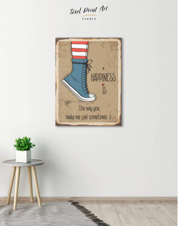 Happiness is Canvas Wall Art - image 4