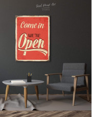 Come In We Are Open Canvas Wall Art - Image 4