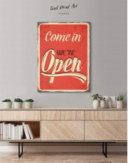 Come In We Are Open Canvas Wall Art - Image 0