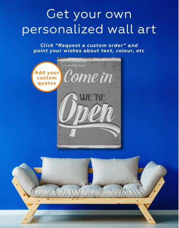 Come In We Are Open Canvas Wall Art - image 1
