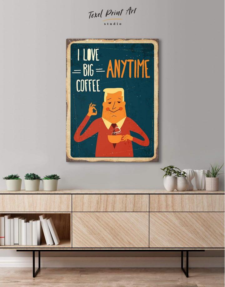 I Love Big Coffee Canvas Wall Art - Image 4