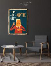 I Love Big Coffee Canvas Wall Art - Image 1