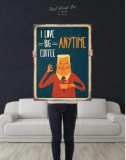 I Love Big Coffee Canvas Wall Art - Image 3