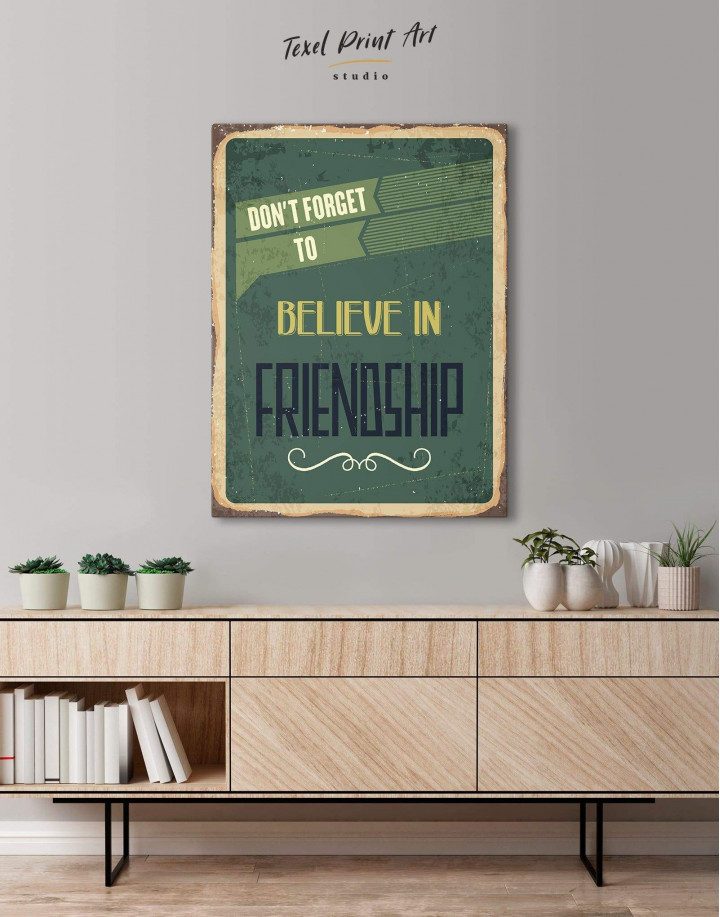 Believe in Friendship Canvas Wall Art - Image 3