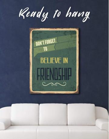 Believe in Friendship Canvas Wall Art