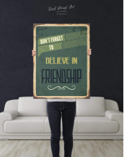 Believe in Friendship Canvas Wall Art - Image 2
