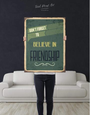 Believe in Friendship Canvas Wall Art - image 2