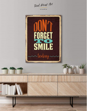 Don't Forget to Smile Today Retro Canvas Wall Art - image 4