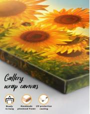 Sunflowers Field Canvas Wall Art - Image 5