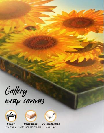 Sunflowers Field Canvas Wall Art - image 1