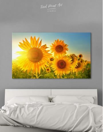 Sunflowers Field Canvas Wall Art