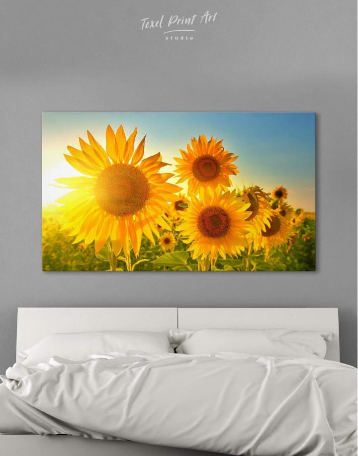 Sunflowers Field Canvas Wall Art - Image 0