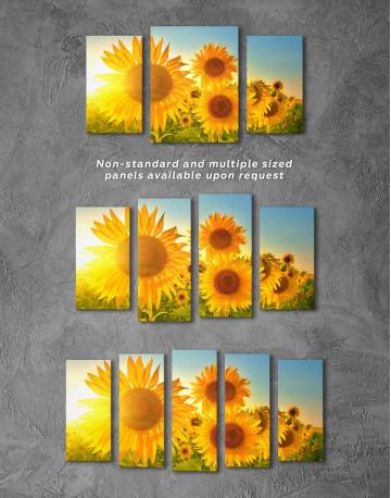 Sunflowers Field Canvas Wall Art - image 4