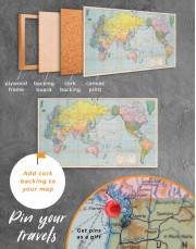Classic World Map Canvas Wall Art - Image 4