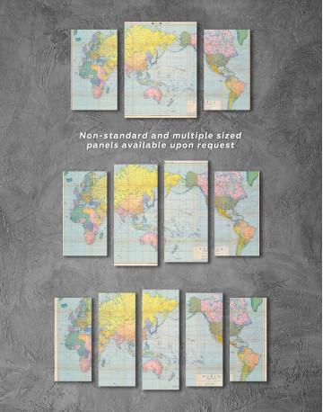 Classic World Map Canvas Wall Art - image 2