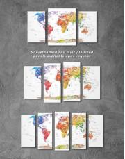 Watercolor Travel Map Canvas Wall Art - Image 5