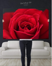 Red Rose Canvas Wall Art - Image 4