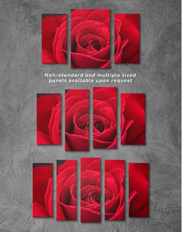 Red Rose Canvas Wall Art - image 2