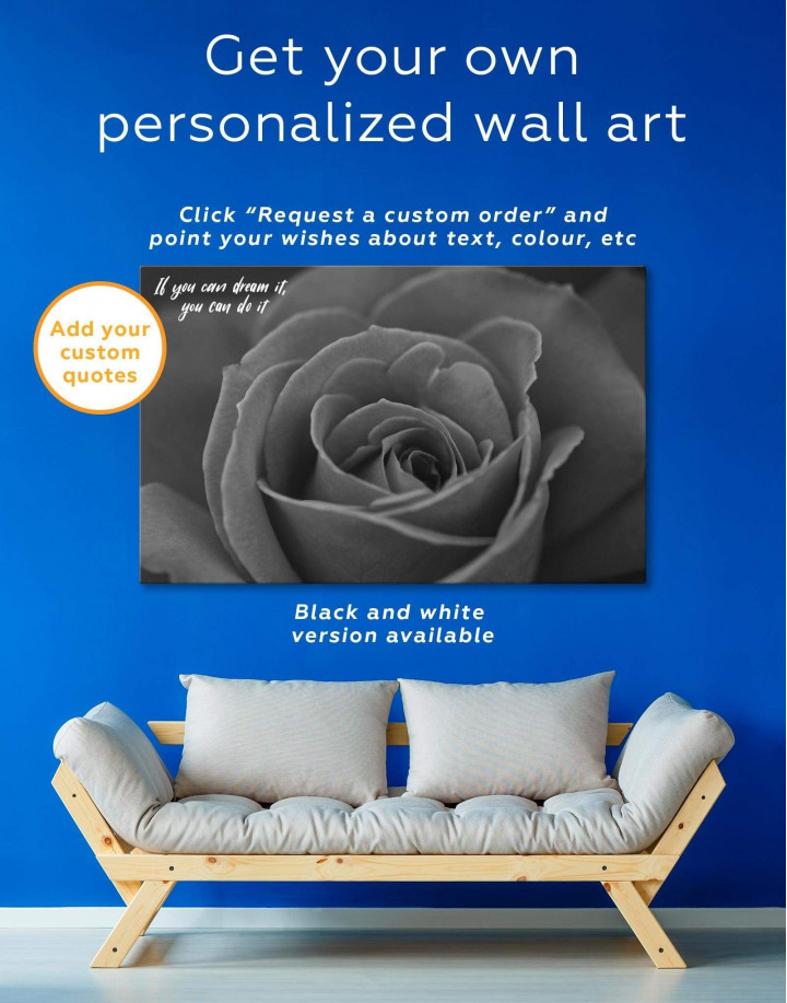 Red Rose Canvas Wall Art - Image 1