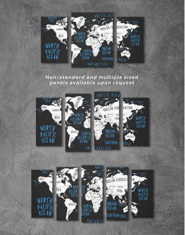 Stylish World Map Canvas Wall Art - image 5