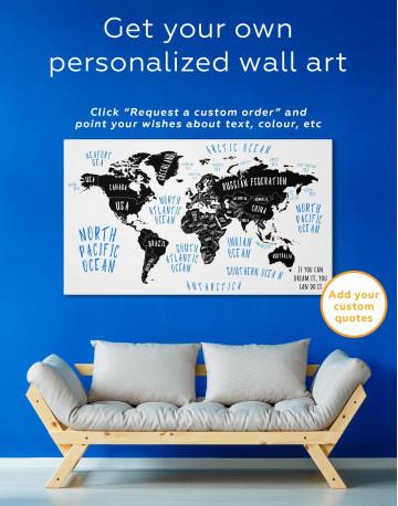 Stylish World Map Canvas Wall Art - image 6