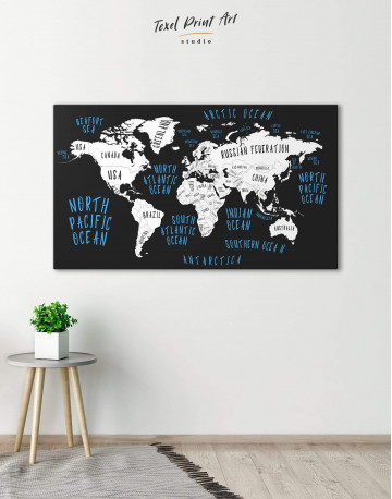 Stylish World Map Canvas Wall Art - image 3