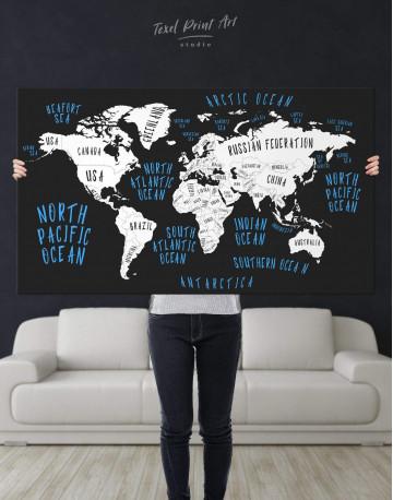 Stylish World Map Canvas Wall Art - image 2